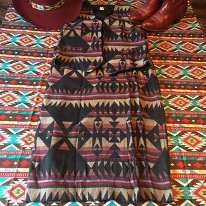 Vintage Southwestern Aztec Vest and Wrap skirt! 💫